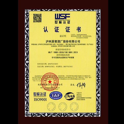 ISO世标认证中文版
